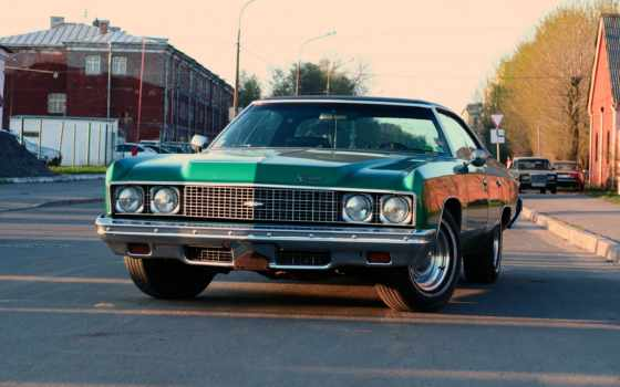 chevrolet, impala, was, car, дома, город, дорога, во,