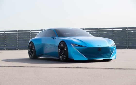 peugeot, car, concept, instinct, cars, desktop, blue,