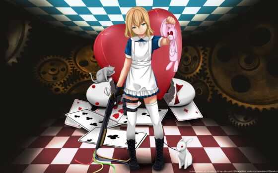алиса, wonderland, anime, изображение, kartinka,
