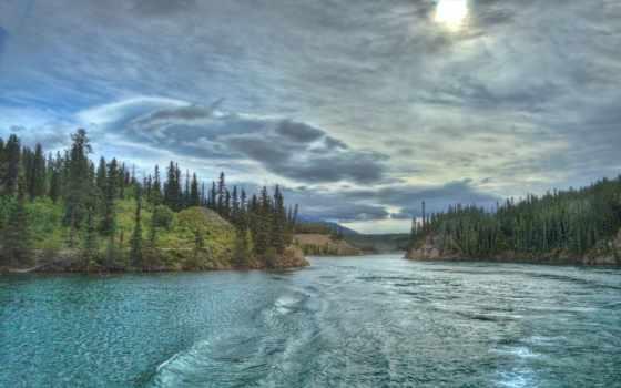 канада, yukon, река,