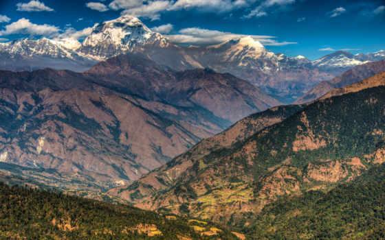 гора, горы, nepal, дек, гималаи, аннапурна, небо, массив, aljumah, emad, рhotography,