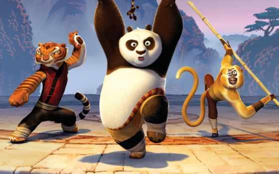 кунг, панда, boo, обезьяна,