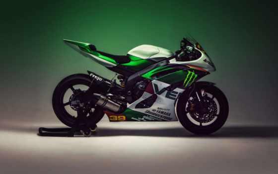 yamaha, мотоцикл, yzf, bike, superbikes, зелёный, copyright,