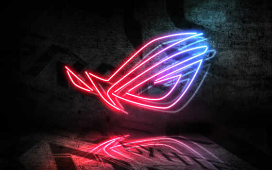 rog, asus, logo, windows, neon, engine, смотреть, gaming, эр,