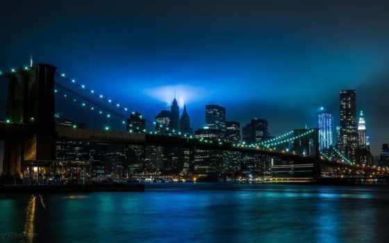 new, мост, город, бруклин, york, города, банка, микс,