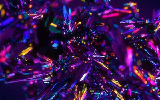 crystal, free, desktop, purple, crystals,