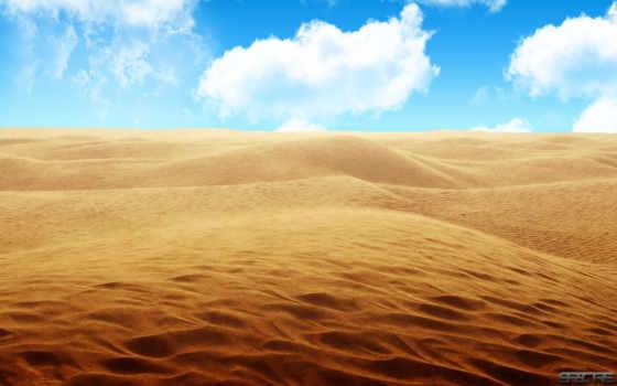 пустыня, песок, links, небо, со, yellow, android,