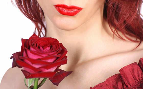 губы, розы, роза, губах, губ, cvety, девушка, красные, красной, помадой, balm,