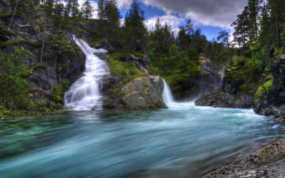 телефон, гора, порог, лес, река, лейбл, водопад, water, пасть, zedge, personalize