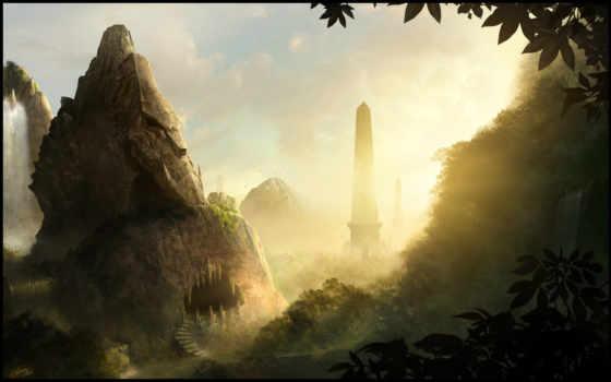 пещера, обелиск