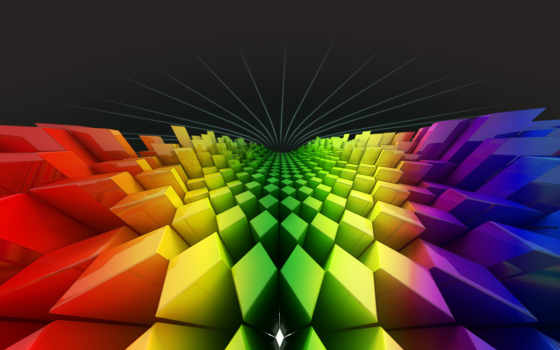 ромбы, радуга, квадраты, colors, shaped,
