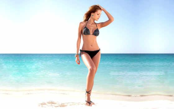девушка, тело, море, рисунок, песок, laura, пляж, телефон, небо, акуна,
