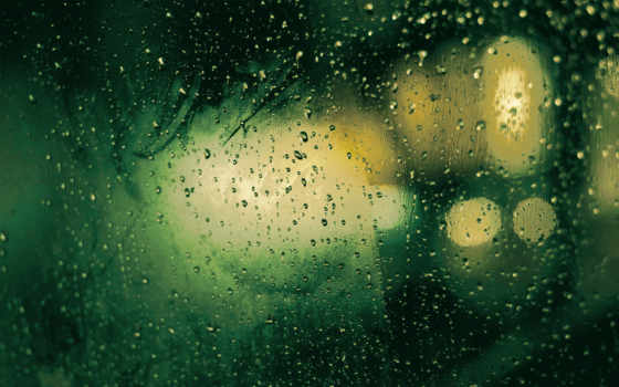 дождь, окном, за, glass, капли, текстура, макро,