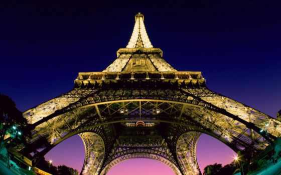 turret, эйфелева, eiffel, башня, разрешения, высокого, франция,