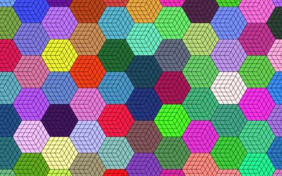 hexagon, Мозаика, colorful, geometric, текстура, компьютер, ноутбук, планшетный, encourage