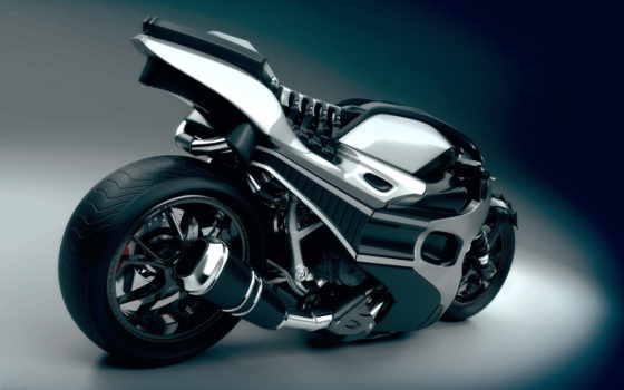 мотоциклы, качестве, заставки, chrome, bike, мотоцикл, рисунок, just, monster,