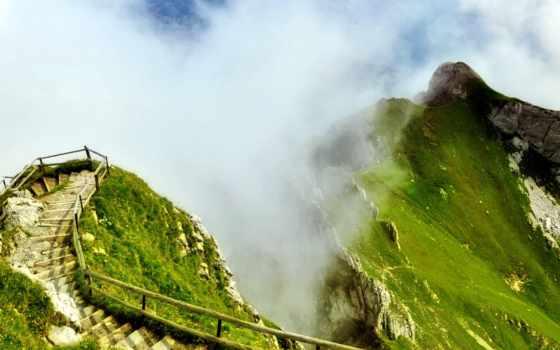 mountains, горы, туман, pantalla, montañas, fondos, планшетный,