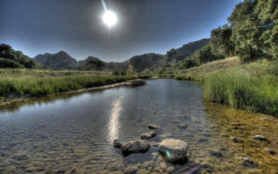 река, water, sun Фон № 171157 разрешение 2560x1600