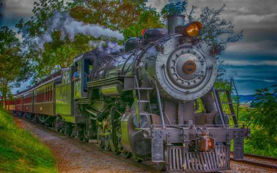 tren, eski, buharlı, плакат, tuval, sanat, duvar, kuma, vintage, ев, lokomotif,