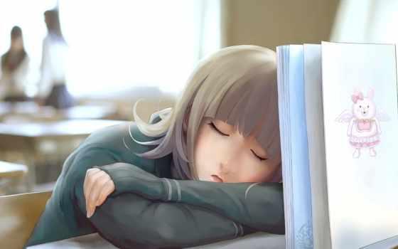 девушка, school, спать, спит, art, книга, class, nyarko, книгой, аватарки, крылья,