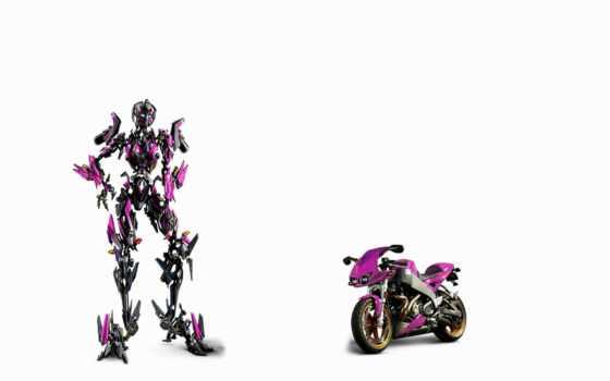 мотоцикл, трансформер, фон, белый, фантастика, hi,