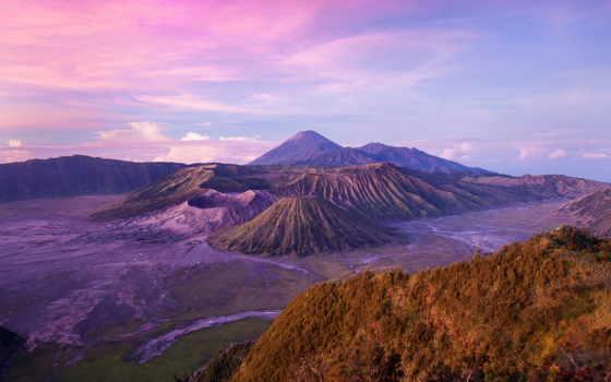 остров, java, индонезии