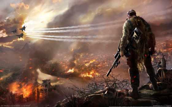 снайпер, ghost, воин, игры, картинка,