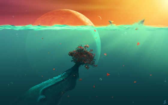 deep, fish, ocean