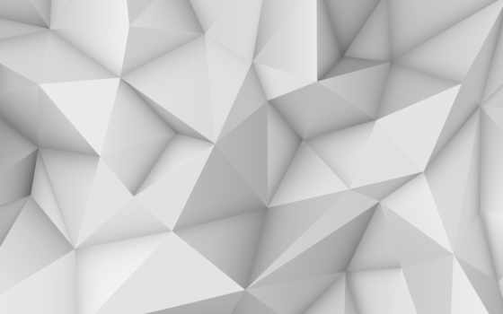 abstract, white, polygonal