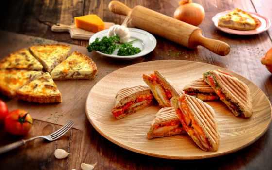пицца, производить, бутерброды, теме, meals, сыр, самые, помидоры, лук,
