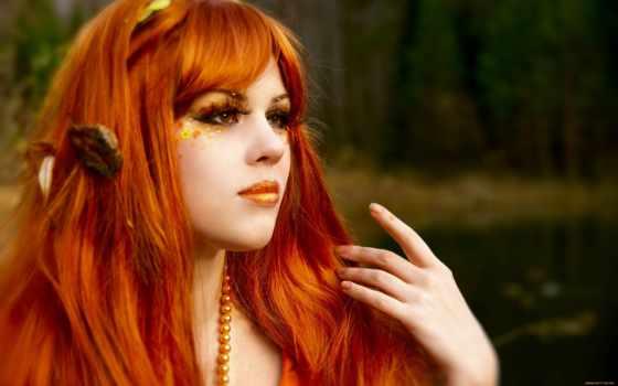 количество, мб, девушка, redhead, рыжеволосая, коллекция, компьютер, лес,