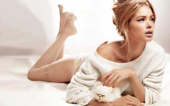 девушка, devushki, модель, свитере, white, victoria, doutzen, kroes, даутцен, secret, stockings,