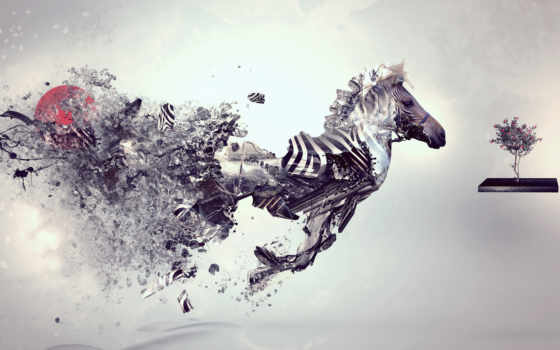 abstract, zebra, creative, smash, animal, zebras,