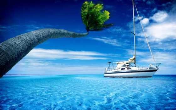 море, яхта, взгляд