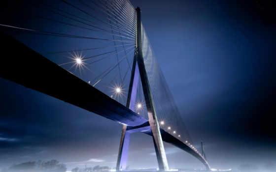 pont, fonds, ecran, découvrez, normandie,