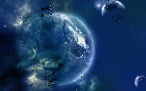 cosmic, landscape, планеты
