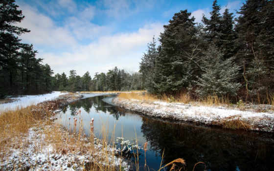 winter, река, small, лес, photography, природа, miriadna, name, size, категория, you,