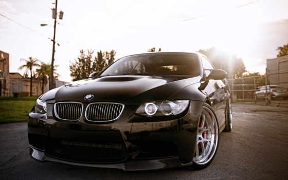 bmw, отражение, авто, black, мото, автомобили, flare,