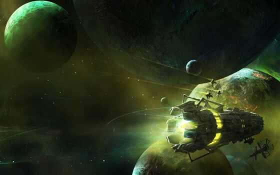cover, космос, planet, корабль, звездолёт, scus, spaceship