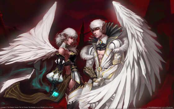 lineage, angels, ангелы, крылья, легенда, игра, картинка, download, fantasy, камаэли, картинку, мыши,