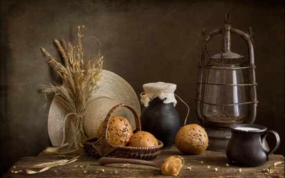 натюрморт, лампа, фото, drinken, eten, мед, хлеба, парафин, фотонатюрморты, lantern,