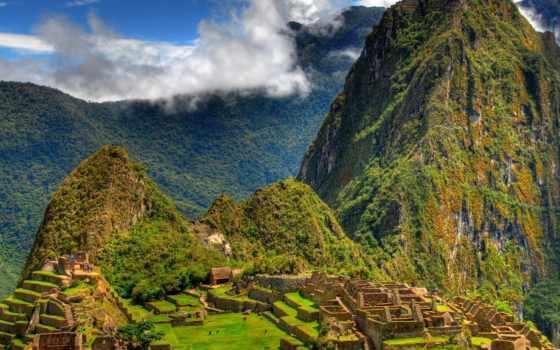 machu, пикчу, picchu, красивые, инков, город, природа, горы, royal, перуанский,
