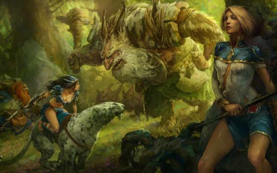 world, девушки, prime, mikhail, rakhmatullin, монтсры, лес, арт, fantasy, красивые, silvan,