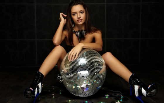 диско, мяч, девушка
