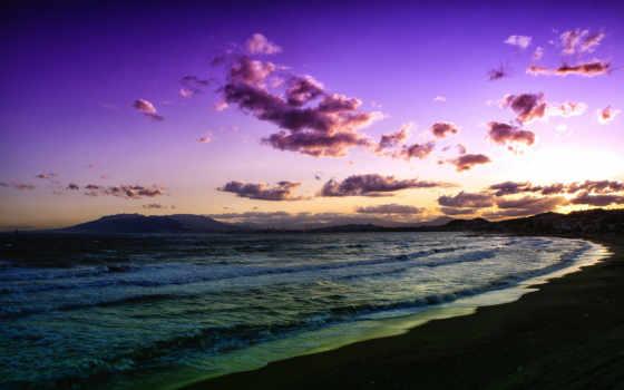 море, закат, пляж Фон № 98432 разрешение 1920x1200