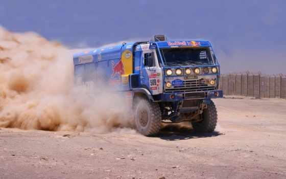 камаз, truck, камаз, dakar, rally, пыль,