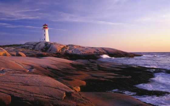 point, lighthouse, peggy, peggys, nova, scotia, cove, канада, desktop,