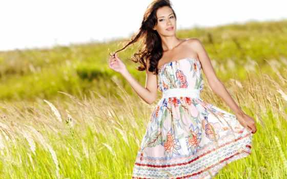 девушка, summer, платье