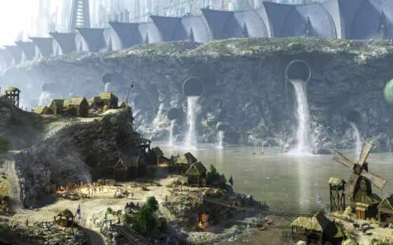 fantasy, arkham, batman, город, landscape, стена, биг, tournament, прогулка, war, great