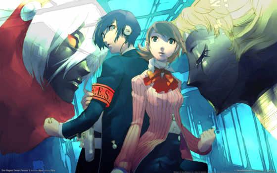 persona, anime, trinity